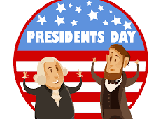 presidents day text with clip art presidents
